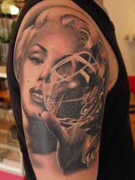 perfect ultimate face with glass tattoo design image make on