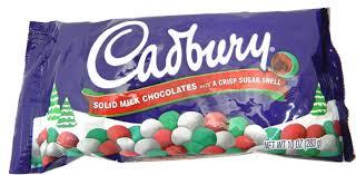 christmas chocolates cadbury candy coated solid milk chocolates 10oz