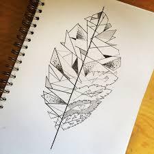 leaf art sketch on instagram
