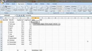 Hvac Load Calculation Spreadsheet by How To Compute Heating And Cooling Degree Days In Excel