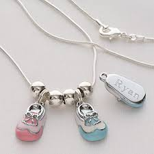 Personalized Sterling Silver Necklace Personalized Sterling Silver Necklace Baby Bootie Ladies Gifts