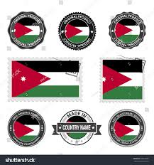 Best Country Flags Vector Set Made Jordan Labels Approved Stock Vector 529610782