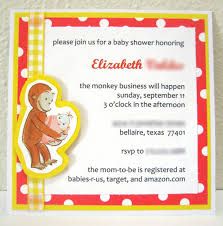 monkey invitations baby shower curious george baby shower invitations ladybug 2 baby shower diy