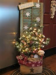 christmas shutter in a burlap bag shutter ideas pinterest