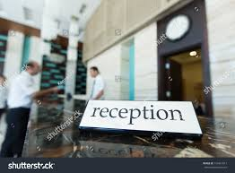 Hotel Reception Desk Hotel Reception Desk Table Receptionists On Stock Photo 110461817