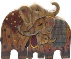 jigsaw elephant family ornament co uk kitchen home