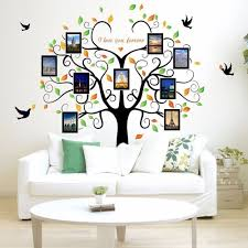 family large tree wall decal picture frames living room bedroom family tree wall decal with picture frames wall decals for living room bedroom kids room best peel and stick wallpaper decor highlight of your home