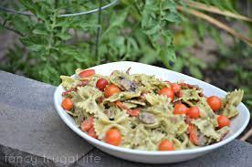 cold sun dried tomato pesto pasta salad fresh pistachio pesto