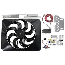 flex a lite electric fan kit flexalite185 mustang flex a lite black magic x treme electric fan