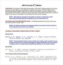 apa format example 8 apa format examples free premium templates