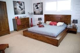 lit tak en hevea massif de qualit礬 meuble en bois massif pour la