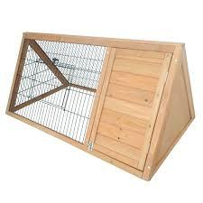 Extra Large Rabbit Cage Amazon Com Pawhut Outdoor Triangular Wooden Bunny Rabbit Hutch