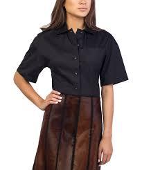 womens cotton blouses prada prada s cotton blend blouse shirt black