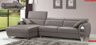 Modern Leather Sectional Sofa Grey Full Italian Leather Modern Sectional Sofa