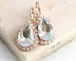 aquamarine drop earrings aquamarine earrings etsy