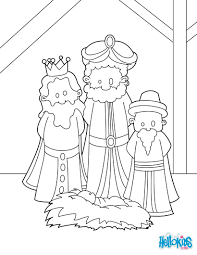 the three wise men at the manger coloring pages hellokids com