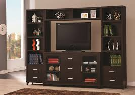 Wall Units by Coaster Entertainment Units Cappuccino Entertainment Wall Unit