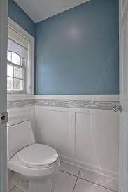 37 best bathroom images on pinterest bathroom remodeling linear mosaic tiles to match the shower add interest to the craftsman wainscoting