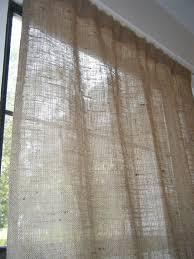 Burlap Panel Curtains Burlap Curtain With Free Jute Tieback 38 Wide X