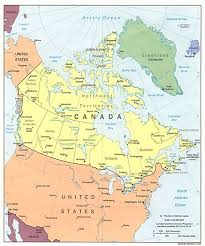 combined map of usa and canada map of canada and the united states major tourist