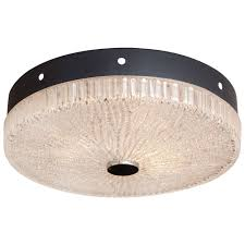 northern european flush mounted textured glass light fixture at