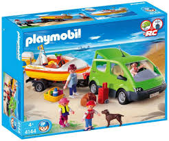 playmobil 4144 family van with boat and trailer amazon co uk