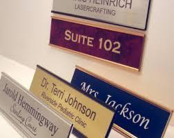 plaque de bureau personnalisé verre de couleur acrylique bureau nom plaque personnalisé