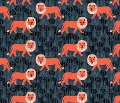 safari lion block print lion kids design fabric andrea lauren