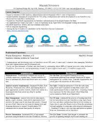 Resume Best Practices Sample Salesforce Resume Gallery Creawizard Com