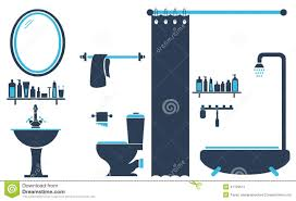 Bathroom Toilet Design Set Vector Stock Vector Image 41139511