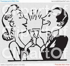 retro martini clip art clipart retro black and white couple toasting royalty free