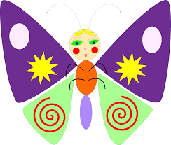 clipart cartoon butterfly