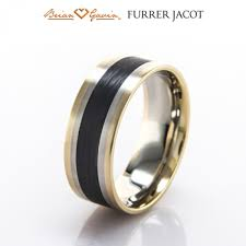 furrer jacot furrer jacot swiss rings carbon bands black by brian gavin