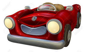 cartoon convertible car an illustration of a cute cartoon classic red convertible car