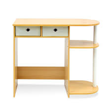 Beech Computer Desk Furinno Go Green Beech Computer Desk With Bin Drawer 11193be Wh Iv