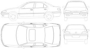peugeot oxia automobilis peugeot 406 miniatiūrą vaizdą skaičius brėžinys