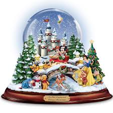 amazon com disney figures snow globe u0027musical snowglobe
