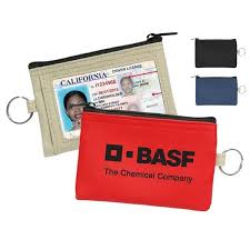 Promotional Business Card Holders Coin Pouch W Id Window U0026 Split Ring Promotional Business Card