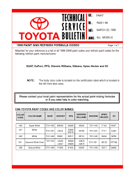paint codes 1996 land cruiser 80 series