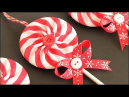 fabric yo yo lollipop ornaments