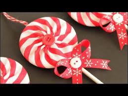 fabric yo yo lollipop ornaments