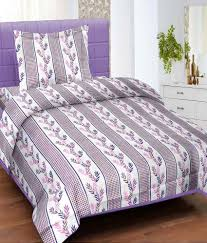 Throw Pillow Covers Online India Cortina Single Bed Sheet With 1 Pillow Cover Purple Buy Cortina
