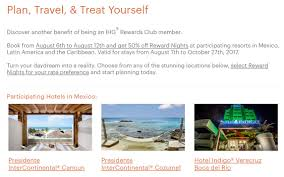 half off resort award stays in mexico u0026 caribbean latin america
