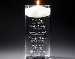 memorial candle memorial candle etsy