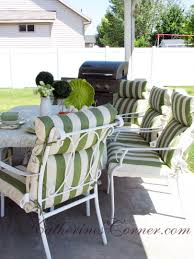bright design white cushions for patio furniture l shaped with black