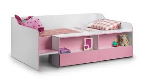 White Single Bed With Storage Julian Bowen Stella Girls Low Sleeper Bed Single White Soft
