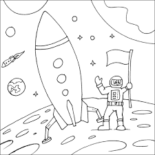astronaut coloring page rocket and astronaut coloring page 19171 bestofcoloring com