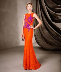 daring long lace pronovias cocktail party gown canela 2017 dress