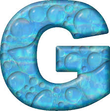 presentation alphabets drops letter g