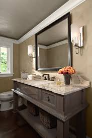 Powder Room Mississauga - vintage bathroom vanity powder room traditional with painted